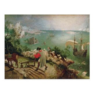 Ajardine con la caída de Ícaro, c.1555 Postal