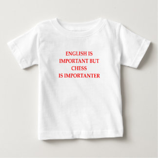 ajedrez camiseta de bebé