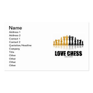 Ajedrez del amor (ajedrez reflexivo Atittude del Plantillas De Tarjeta De Negocio