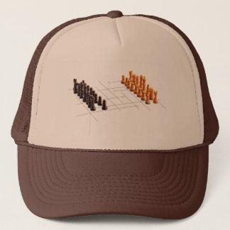 Ajedrez del diseñador gorra de camionero