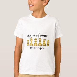 ajedrez, mi arma de la opción camiseta