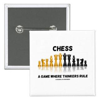 Ajedrez un juego donde los pensadores gobiernan chapa cuadrada