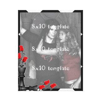 Ajedrez y boda gótico de los rosas impresión en lona