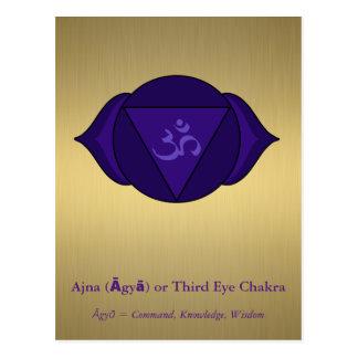 Ajna (Āgyā) o postal de Chakra del tercer ojo