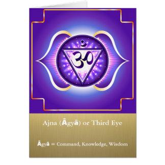 Ajna (Āgyā) o tarjeta de felicitación de Chakra