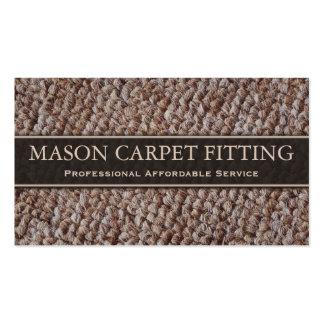 Ajustador de la alfombra/tarjeta de visita que