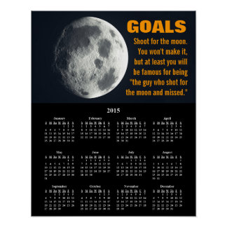Ajuste 2015 de la meta del calendario de póster