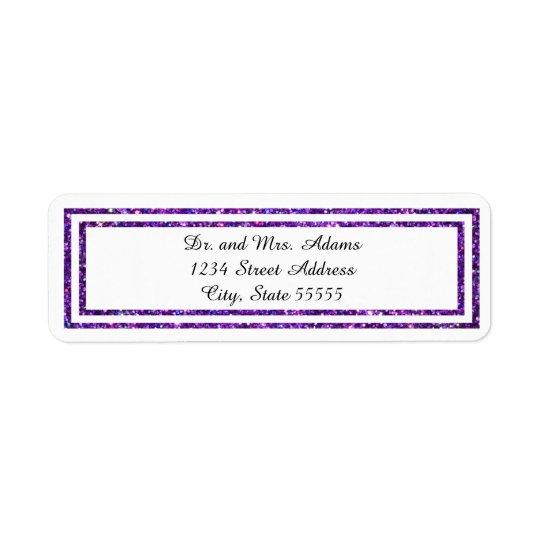 Ajuste brillado púrpura - etiqueta de dirección