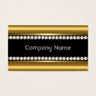 Ajuste de bronce elegante del diamante negro del tarjeta de visita
