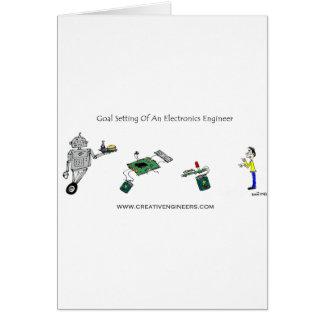 Ajuste de la meta de un ingeniero electrónico tarjetón