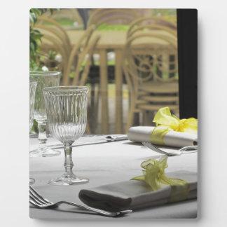 Ajuste de la tabla para el navidad o el otro placas de madera