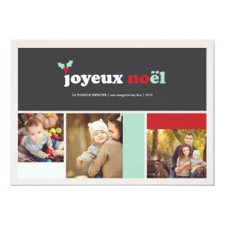 Ajuste moderne la carte de pho del día de fiesta invitación 12,7 x 17,8 cm