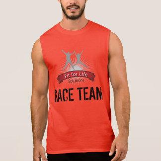 Ajuste para el equipo de la raza de la vida camiseta sin mangas