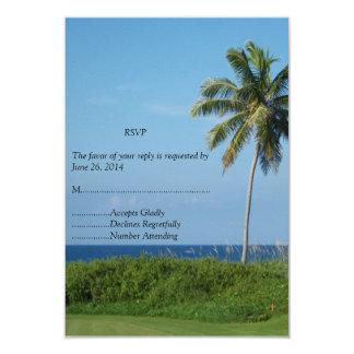 Ajuste perfecto de RSVP A para un boda de playa Invitación 8,9 X 12,7 Cm