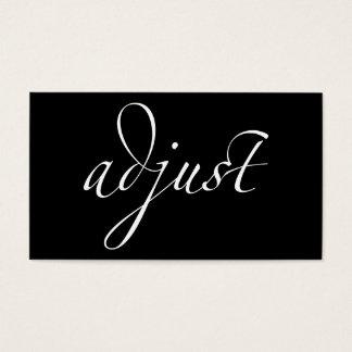 Ajuste: Quiropráctica/centrado Tarjeta De Negocios