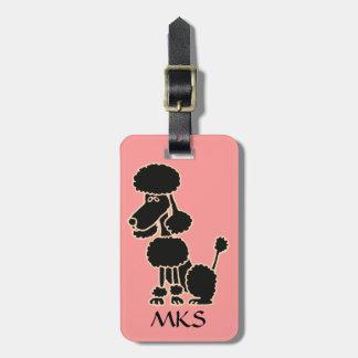 AK- etiqueta negra divertida del equipaje del