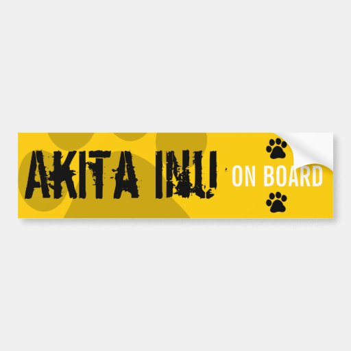 Akita Inu a bordo Etiqueta De Parachoque