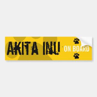 Akita Inu a bordo Pegatina Para Coche