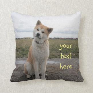 Akita Inu cute pillow Cojín Decorativo