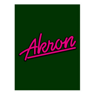 Akron en magenta tarjeta postal