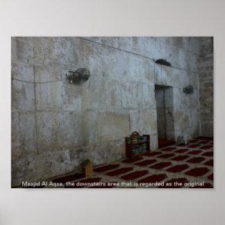 Al-Aqsa interior de Masjid Poster