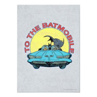 Al Batmobile - icono apenado Invitación 12,7 X 17,8 Cm