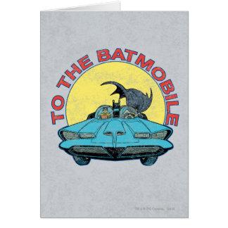 Al Batmobile - icono apenado Tarjeta De Felicitación