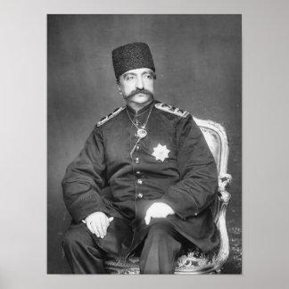 Al-Dinar Shah Qajar de Naser de Persia Póster
