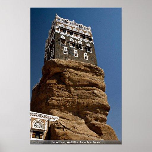 Al-Hajar de Dar, lecho de un río seco Dhar, Repúbl Poster
