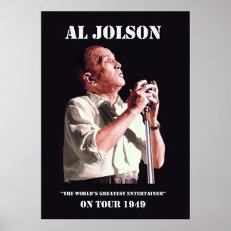 Al Jolson en el poster del viaje