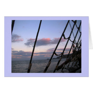 Al mar a la tarjeta del poema del mar
