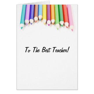 Al mejor profesor tarjeta de felicitación