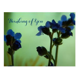 Al sentir azul… postal
