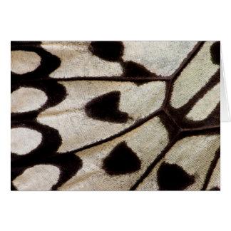 Ala blanco y negro de la mariposa tarjeta de felicitación