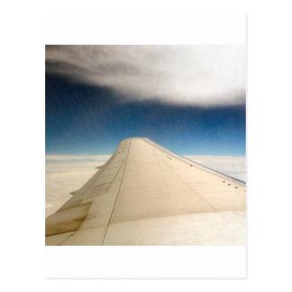 Ala del cielo de la esperanza postal