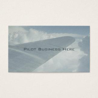 Ala experimental del avión del aeroplano en las tarjeta de visita