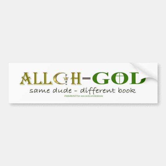 Alá significa a dios - la misma pegatina para el