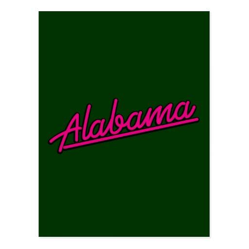 Alabama en magenta postales