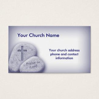 Alabanza cristiana el azul de la tarjeta del señor