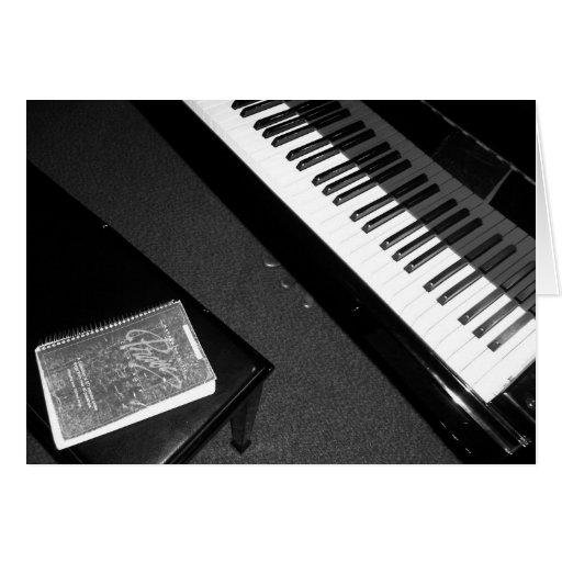Alabanza del piano tarjetas