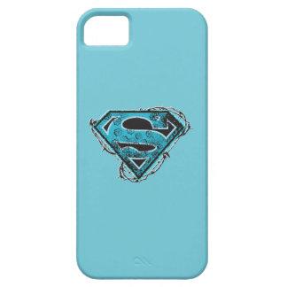 Alambre de púas y flores del logotipo de Supergirl iPhone 5 Case-Mate Protectores