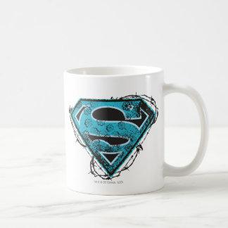 Alambre de púas y flores del logotipo de Supergirl Taza Clásica