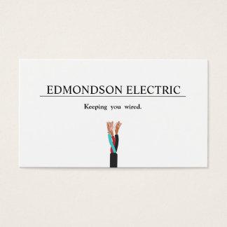 Alambre eléctrico del electricista tarjeta de negocios
