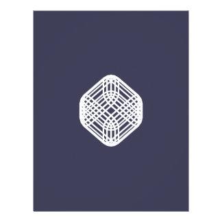 Alambre sofisticado - añil folleto 21,6 x 28 cm