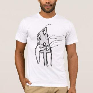 Alambres al viento/al ajustado camiseta
