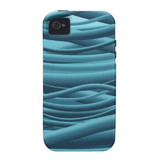 Alambres azules vibe iPhone 4 funda