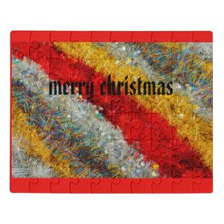 alambres brillantes del navidad en rompecabezas de