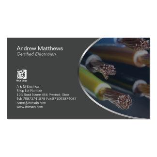 Alambres coloreados electricista del cable tarjetas de visita