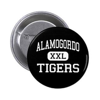 Alamogordo - tigres - alto - Alamogordo New México Chapa Redonda De 5 Cm
