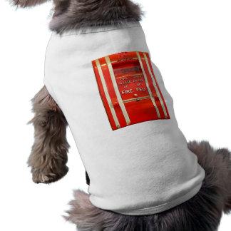 Alarma de incendio camiseta sin mangas para perro